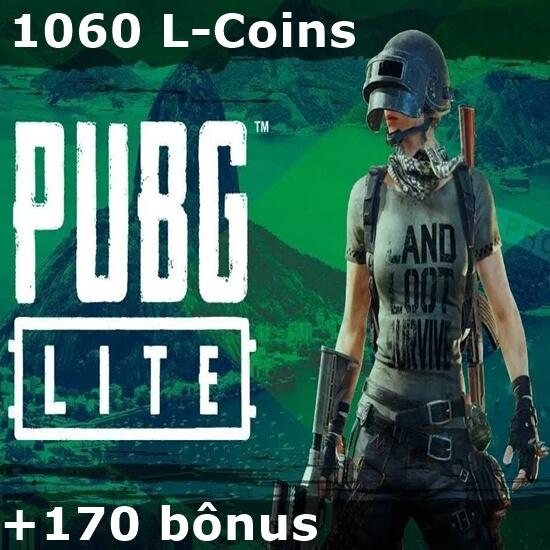PUBG Lite - 1.060 L-Coins + 170 bônus