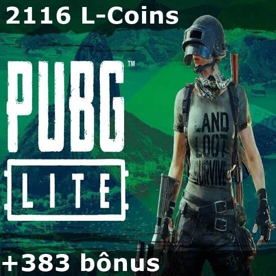 PUBG Lite - 2.116 L-Coins + 383 bônus