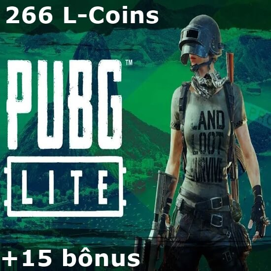 PUBG Lite - 266 L-Coins + 15 bônus
