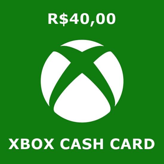 R$40 Xbox Cash Card
