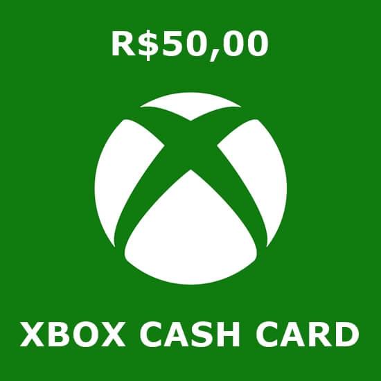 R$50 Xbox Cash Card